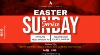 Easter Church Service Digitale Vertoning (16:9) template