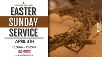 Easter Church Service Tampilan Digital (16:9) template