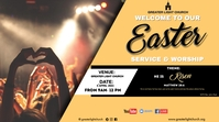 Easter Church Service Display digitale (16:9) template