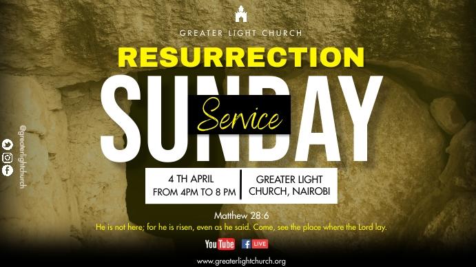 Easter Church Service Digital na Display (16:9) template