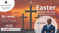 Easter Church Service Digitalanzeige (16:9) template
