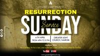 Easter Church Service Ecrã digital (16:9) template
