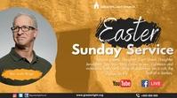 Easter Church Service งานแสดงผลงานแบบดิจิทัล (16:9) template