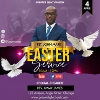 Easter Church Service Iphosti le-Instagram template