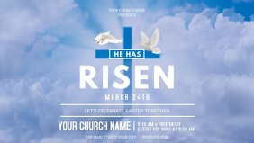 Easter Church Service Facebook Cover Video template