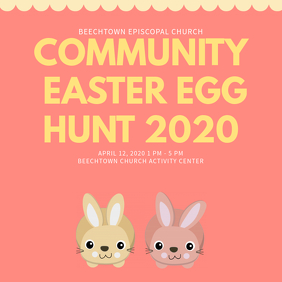 Easter community Church Instagram Template