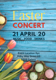 Easter concert Flyer Poster Invitation event