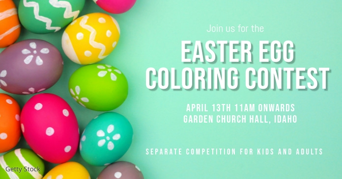easter contest template