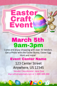 Easter Craft Event Template Poster