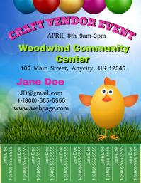 Easter Craft Vendor Event ใบปลิว (US Letter) template