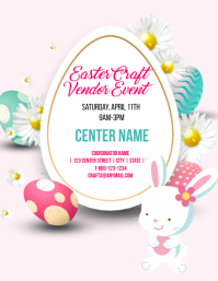 Easter craft vendor event template Flyer (US Letter)