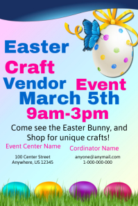 Easter Craft Vendor Event Template Plakkaat