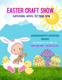 Easter Craft Show 传单(美国信函) template
