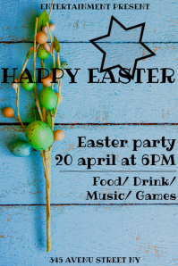 Easter day flyer template