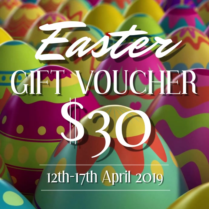 Easter Day Gift Voucher Template Postermywall