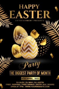 easter day party video Poster template