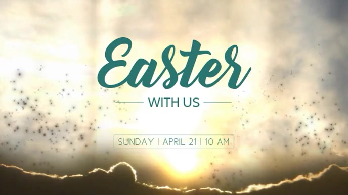 Easter Display digitale (16:9) template