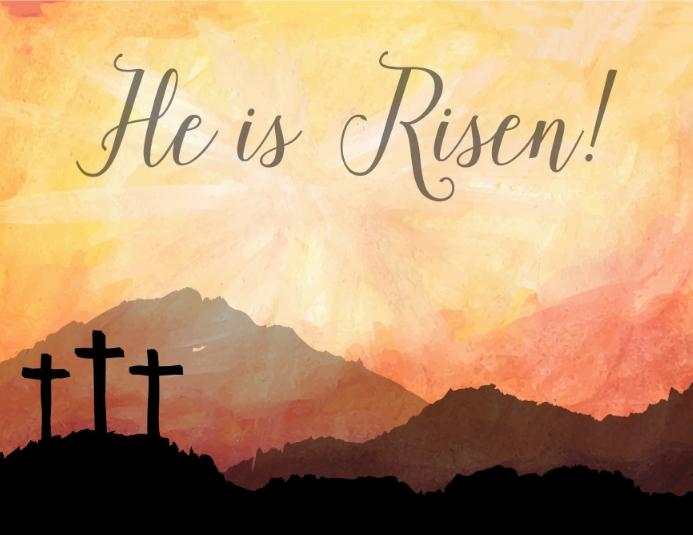 Easter Folheto (US Letter) template