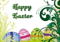 easter Postal template