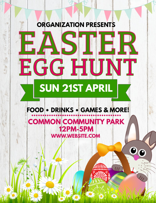 Easter Flyer (Letter pang-US) template