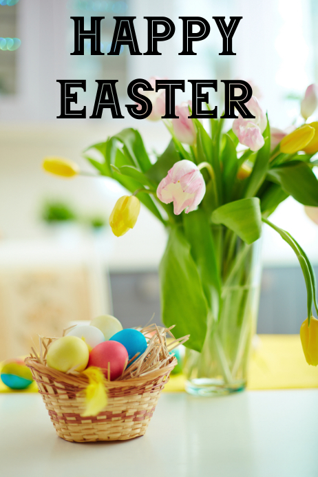 Easter Plakat template
