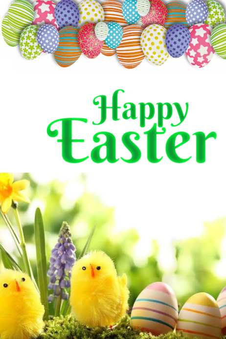 Easter Poster template
