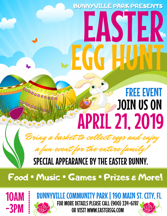 Easter Pamflet (Letter AS) template