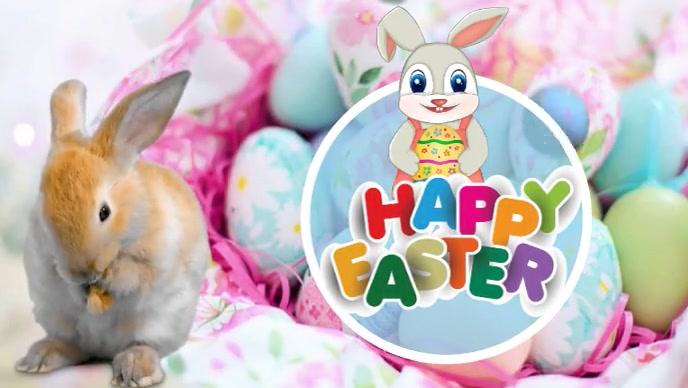 Easter Vídeo de portada de Facebook (16:9) template
