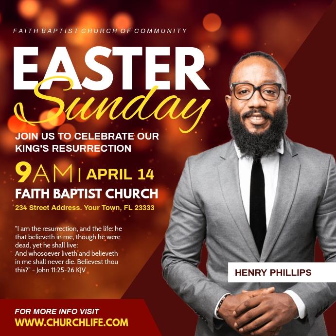Easter Persegi (1:1) template