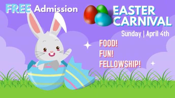 Easter Digital Display Affichage numérique (16:9) template