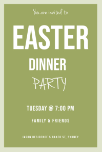 Easter dinner invitation
