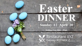 Easter Dinner Reastaurant Video Header Food Menu
