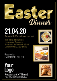 Easter Dinner Restaurant Lunch Celebration Ad