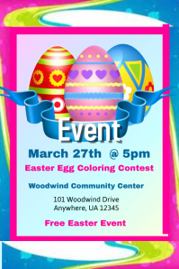 Easter Egg Coloring Contest Flyer