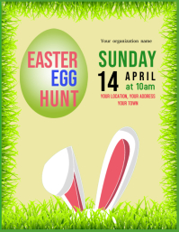 Easter egg Hunt event flyer invitation template