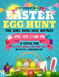 EASTER EGG Flyer (US Letter) template