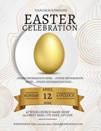 Easter EGG DINNER Celebration Template