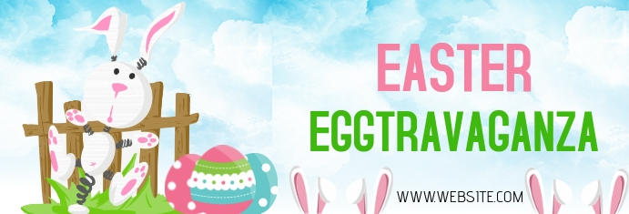 Easter Egg Eggtravaganza LinkedIn-banner template