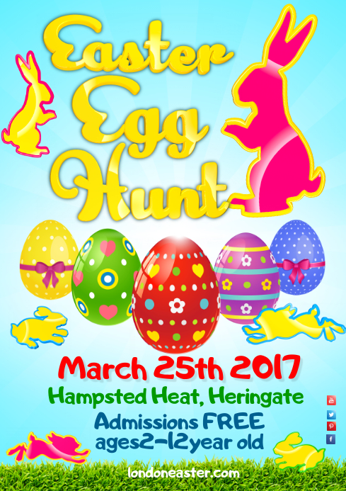 Easter Egg Festival Poster A4 template