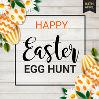 Easter egg hunt, Easter, Easter party 方形(1:1) template