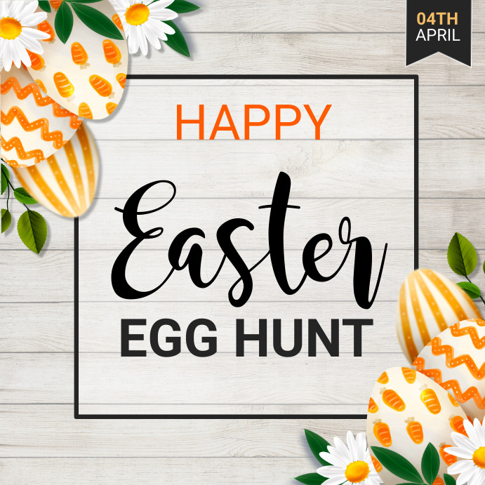 Easter egg hunt, Easter, Easter party Persegi (1:1) template
