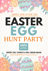 Easter egg hunt, Easter, Easter party 海报 template