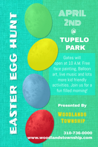 Easter egg hunt Poster/Flyer