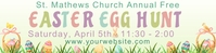 Easter Egg Hunt 2'x8' Banner template