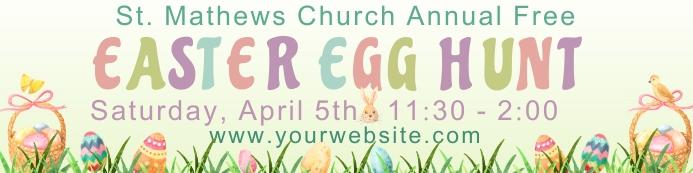 Easter Egg Hunt 2'x8' Banner template