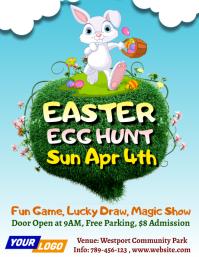 Easter egg hunt 2021 Flyer (format US Letter) template