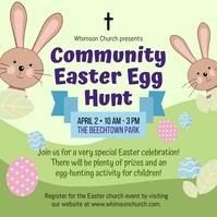 Easter Egg Hunt Post Instagram template