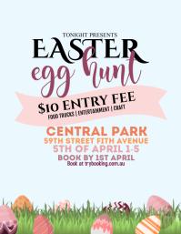 Easter Egg Hunt 传单(美国信函) template