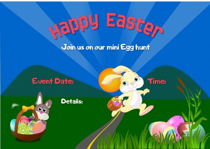 Easter Egg hunt Cartolina template
