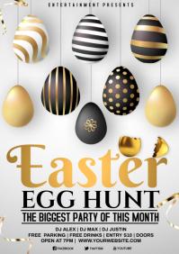 easter egg hunt A4 template